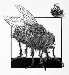 Papierschnitt Fliege